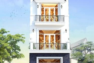mẫu nhà phố 3 tầng tân cổ điển tại Bình Dương