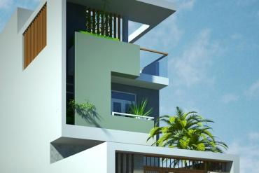 mẫu nhà phố 5x20m 2,5 tầng hiện đại tại Thuận An| kienphatdesign.com