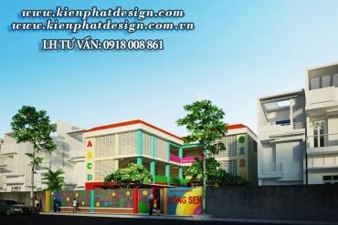 Mẫu thiết kế trường mầm non Tân Hương Bình Dương